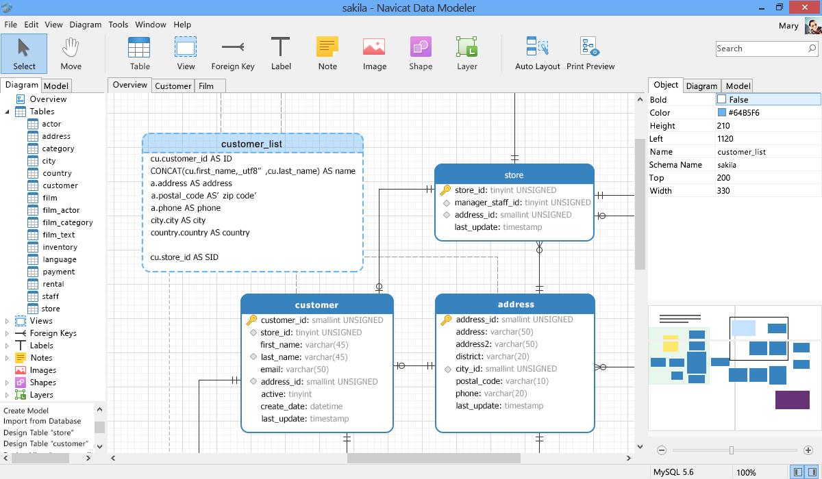 Navicat Data Modeler - Database Design Tool