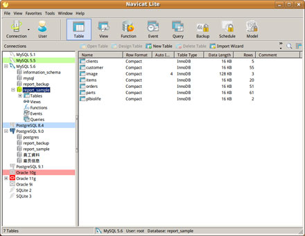 Freeware - Navicat Lite for Linux (Cross-Database Admin Tools for MySQL, SQLite, Oracle and PostgreS screenshot