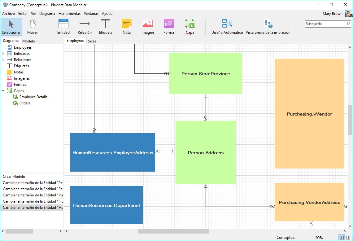 Navicat Data Modeler | Excelente sistema de configuración y diseño ...