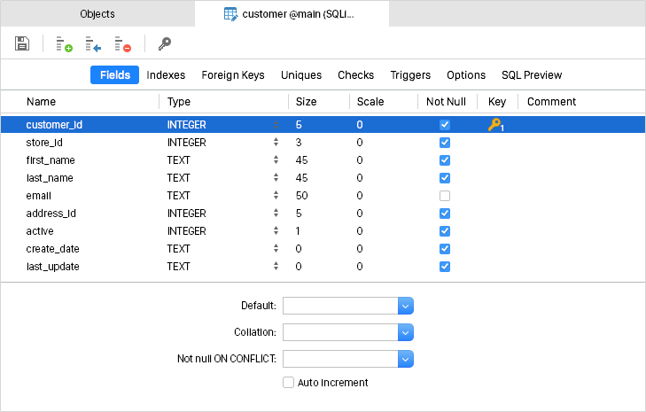 data manipulation - Sqlite Database Designer