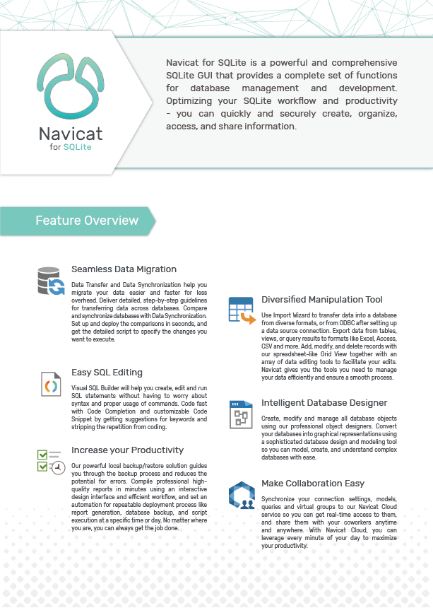 Navicat SQLite Resources